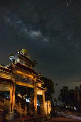 Milky way or galaxy in the night sky