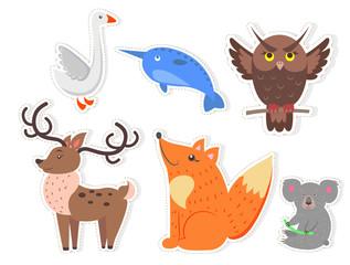 Cartoon Wild Fish, Bird and Animals Collection