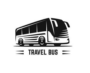 Vector black sign bus
