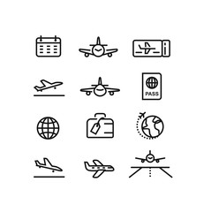 Plane, flight, airport