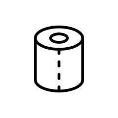toilet paper icon vector illustration