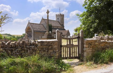Church at Swinbrook, Cotswolds, Oxfordshire, England