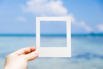 Mer Bleu photo cadre