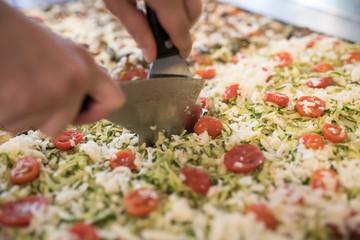 generic photos of Italian pizza preparation