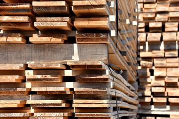 積まれた木材