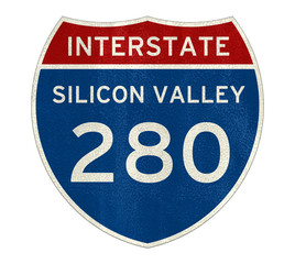 Interstate - Silicon Valley road sign icon