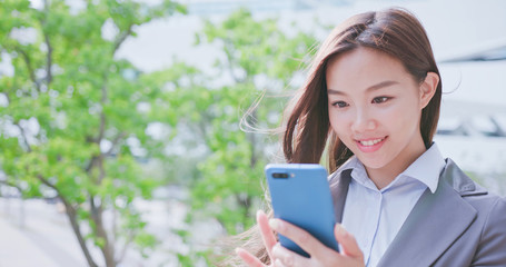 business woman use phone