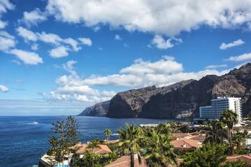 Seascape. Coastline and cliffs of Los Gigantes (Spain, o.Tenerife)