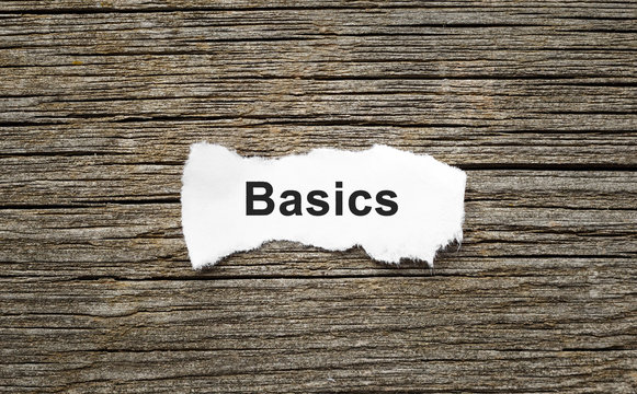 Word Basics on the piece of paper