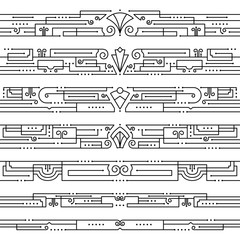 Vintage Art Deco Borders