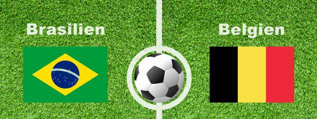 Fußball Viertelfinale - Brasilien gegen Belgien