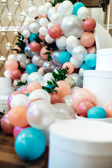 Wedding decor with large beads