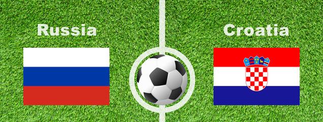 Fußball Viertelfinale - Russland gegen Kroatien