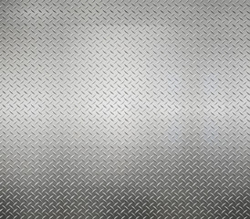 White silver metal industrial plate wall diamond steel patterned background