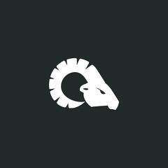 Ram logo minimalist modern graphic download template illustration