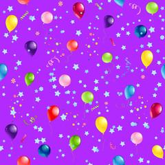 Violet Happy Birthday pattern