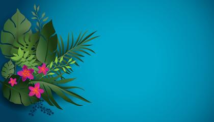 Blue tropic nature