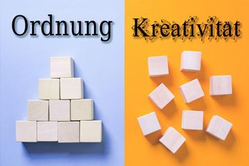 Ordnung vs. kreative Struktur