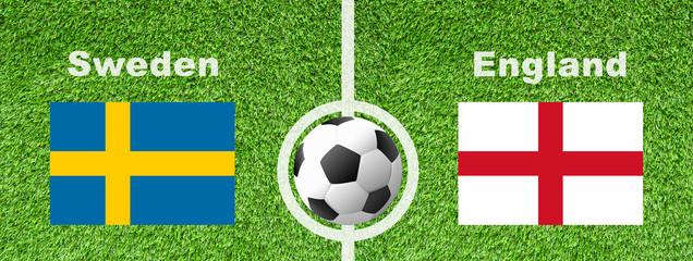 Fußball Viertelfinale - Schweden gegen England