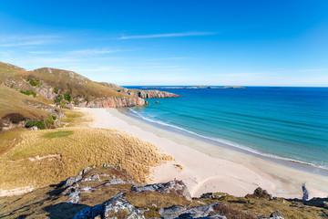 Fototapete - Sangobeg Beach in Scotland