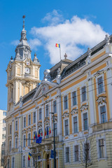 Cluj-Napoca City Hall in Romania. Built at the end of the 19th century