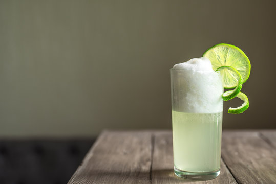 Egg Gin Fizz Cocktail