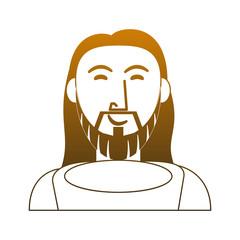 Jesuschrist face cartoon vector illustration graphic design