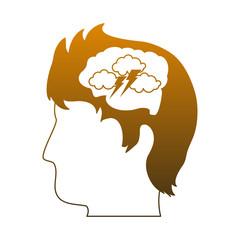 Attacked mind cartoon symbol vector illustration graphic design
