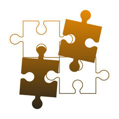 Jigsaw pieces isolated vector illustration graphic design