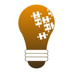 Bulb light energy vector illustration graphic design