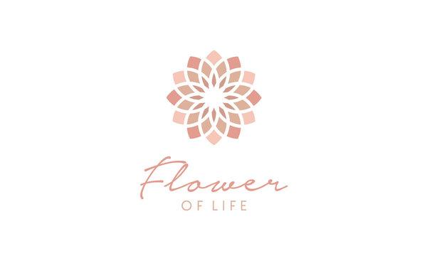 Flower of Life Pattern Logo design inspiration