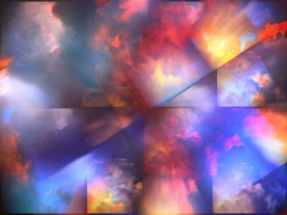 Colorful abstract clouds