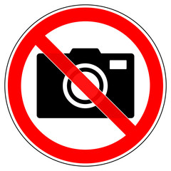 srr385 SignRoundRed - german - Filmen oder Fotografieren strengstens verboten - english - cameras / photographing, photography strictly prohibited - xxl g6272