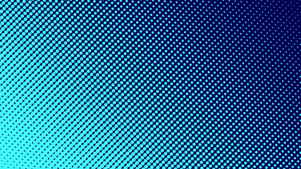 Halftone gradient pattern vector illustration. Light blue dotted, dark blue halftone texture. Pop Art style blue halftone, comics Background. Background of Art. Dots background. AI10