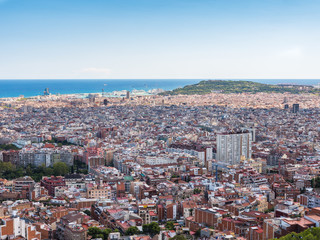 View of the city of Barcelona from the Carmel's bunkers