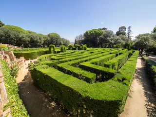 View of the tourists in the Horta's Labyrinth