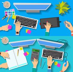 designer's Desk and accountant's Desk