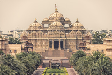 Photo sur cadre textile Monument Swaminarayan Akshardham complex indian temple in New Delhi, India