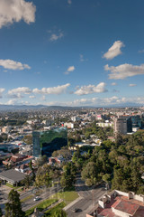 A daytime view of the capital city of Guatemala.