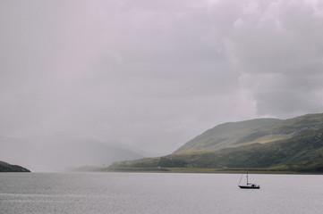 Foggy lake in Scotland