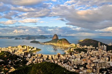 Scenic View of Rio de Janeiro City and the Sugarloaf Mountain