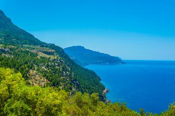 Ragged coast of Mallorca near port de Soller, Spain