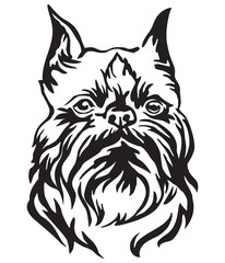 Decorative portrait of Dog Brussels Griffon vector illustration