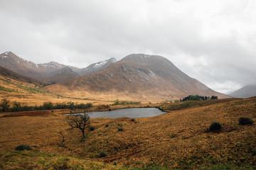 A lake in Glen Etive, Scottish Highlands