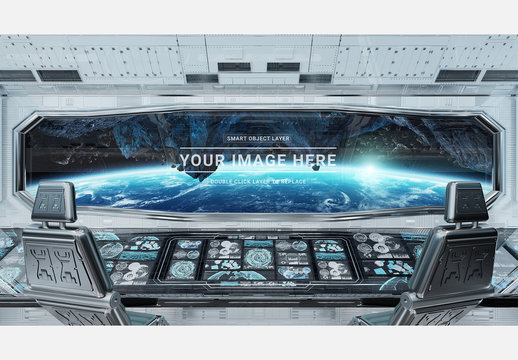 Spaceship Control Panel Station Mockup