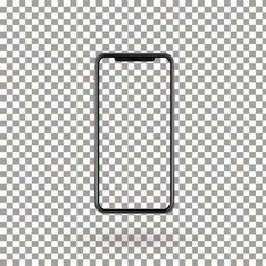 Realistic mobile phone with empty screen, Vector, Illustration, Eps File
