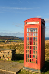 Old Telephone Box, Scottish Highlands, Scotland, United Kingdom, Europe