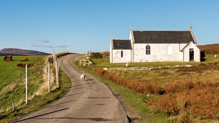 Little White Church, Scottish Highlands, Scotland, United Kingdom, Europe