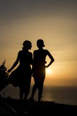 Silhouette Santorini