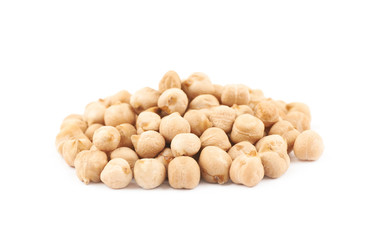 Pile of chick peas isolated